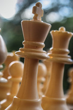 Chess pieces.