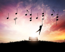 catching a music note