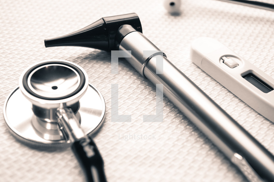 stethoscope, and thermometer