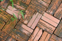 brick pavers background