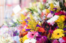 flower bouquets at a flower shop