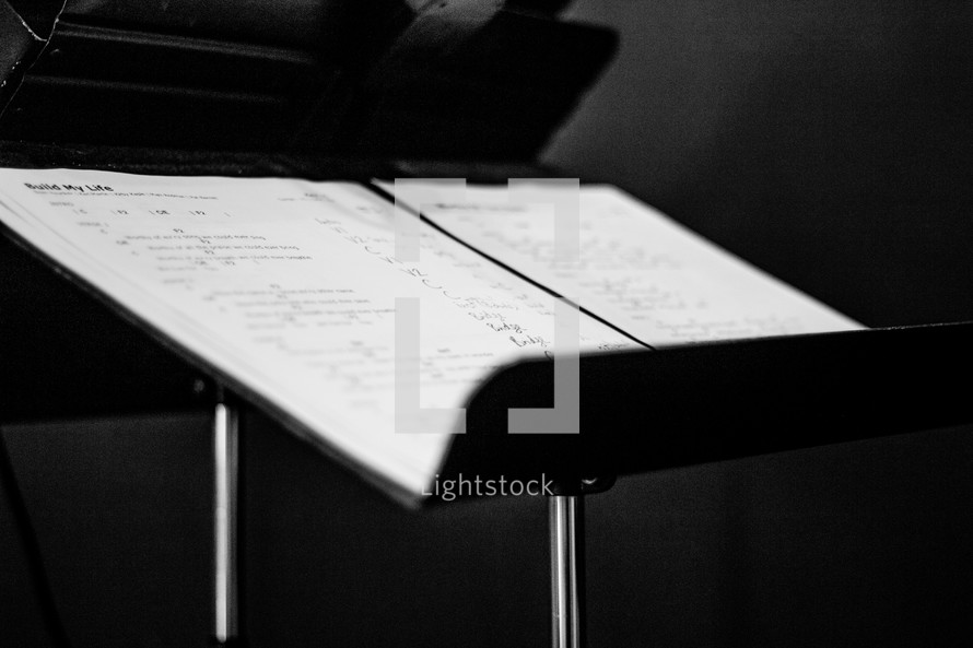 music on a stand