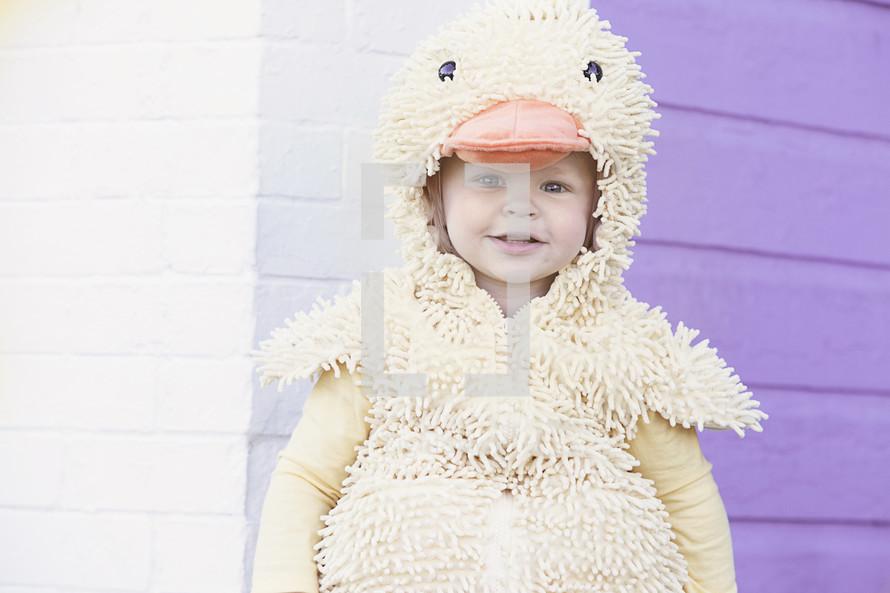 toddler dress like a duck