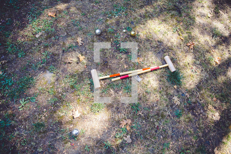 croquet mallots
