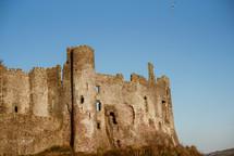 castle wall ruins