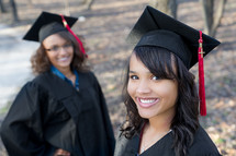 Smiling graduates.
