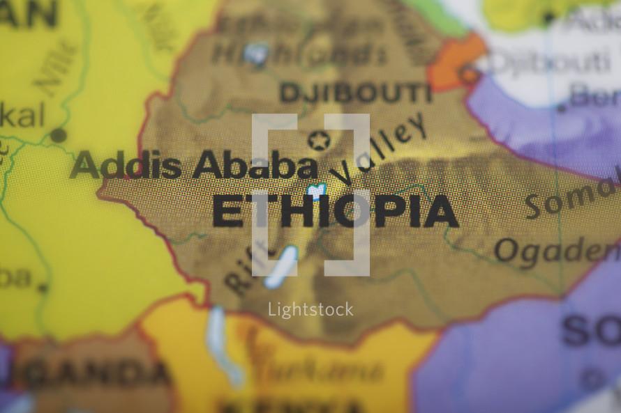 Ethiopia, map