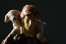 shepherd, lamp, figurine, sheep, nativity