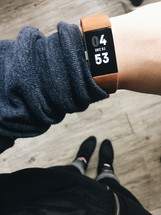 fitness tracker on a wrist