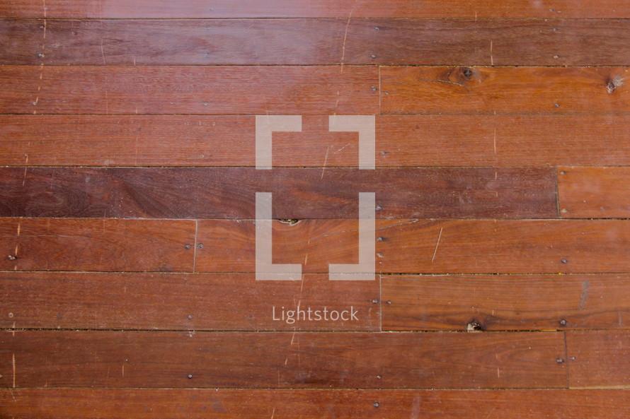Red brown wooden floor