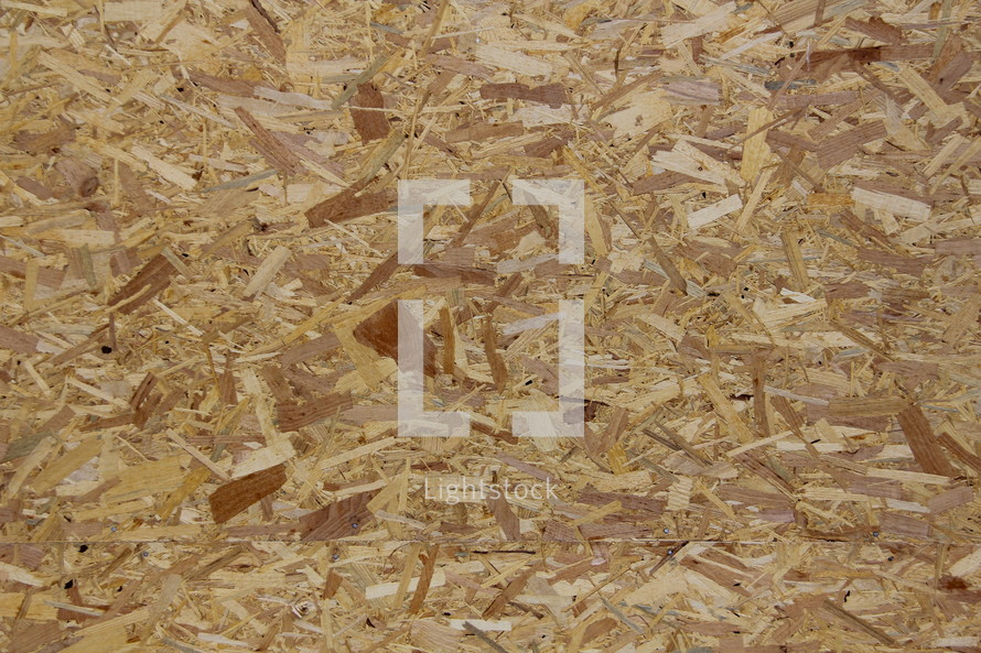Particleboard or chipboard