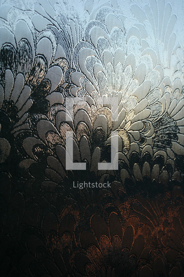 etched glass background