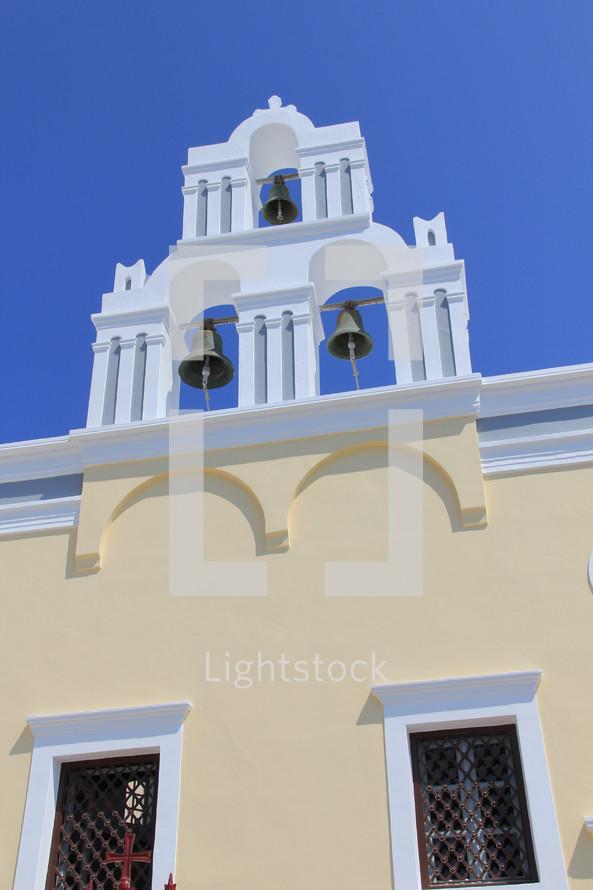 Church bell tower.