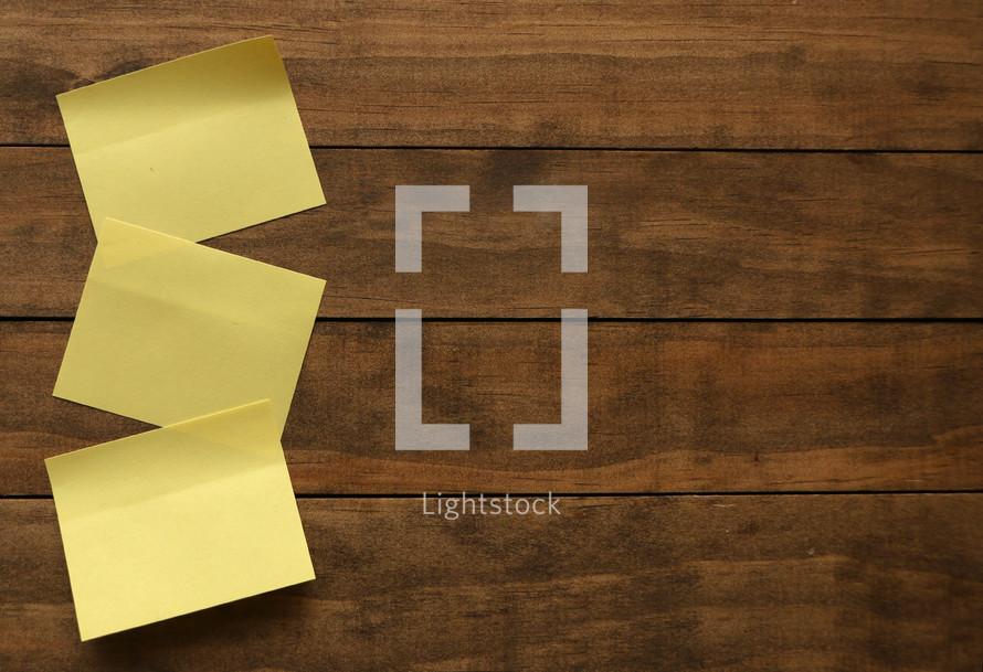 three post-it notes