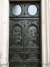 ornate bronze door