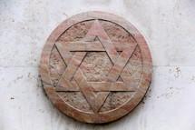 Star of David, Jewish symbol in marble