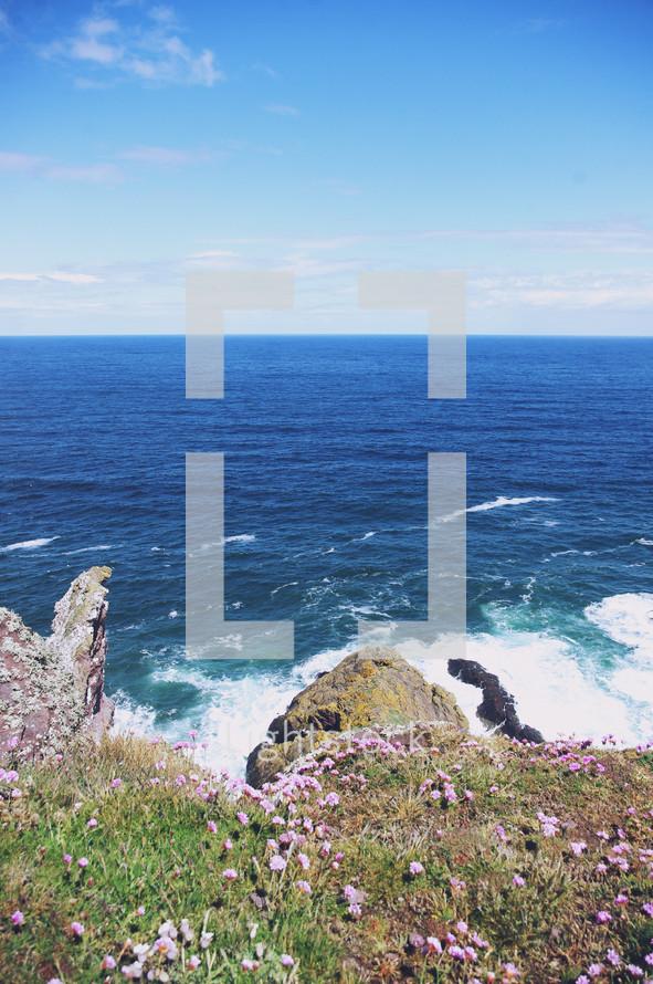 ocean view from sea cliffs