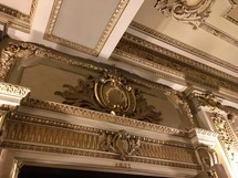 ornante ceiling and mantle