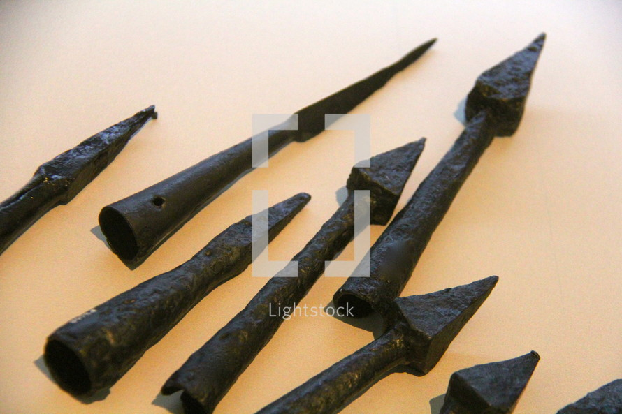 old spear tips