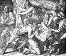 Philistines capture Samson, Judges 16: 21