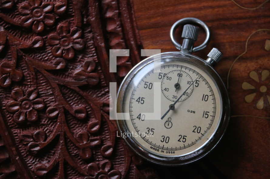 Wind up soviet made stopwatch time piece