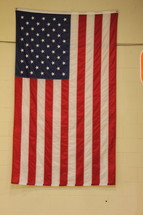 American Flag on a wall