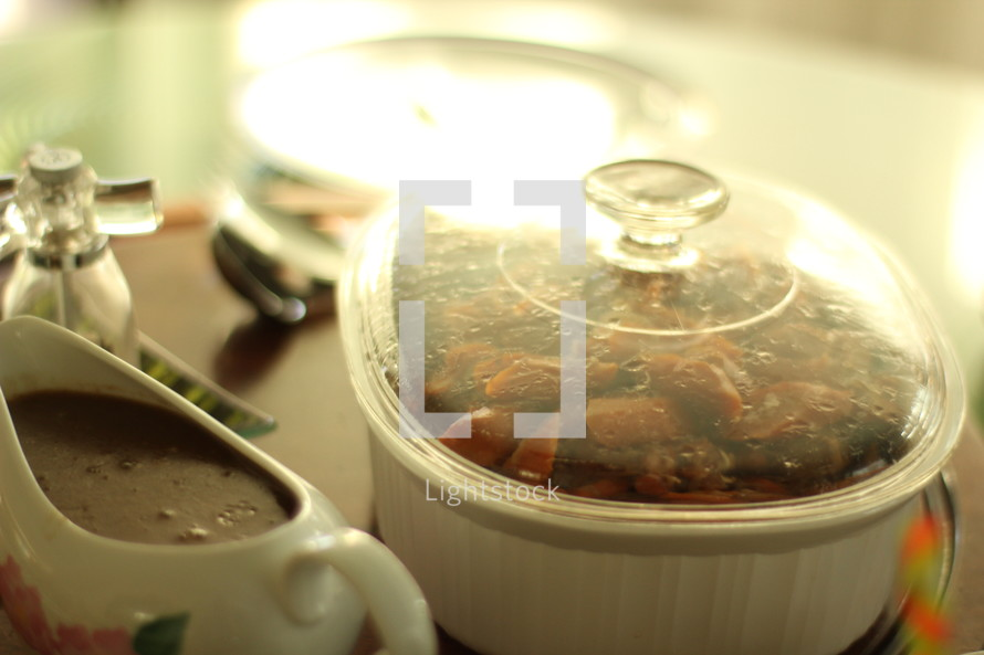 roast in a casserole dish