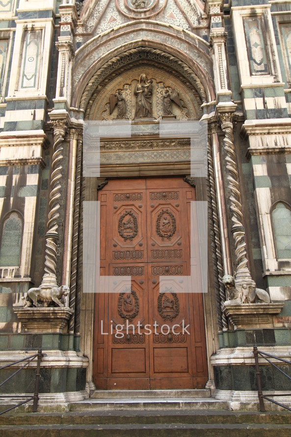 ornate cathedral doors