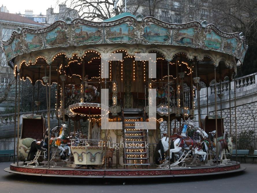 A carousel in Paris