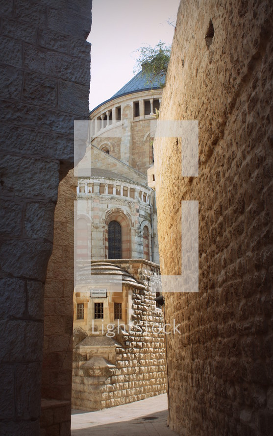 view of The Abbey of the Dormition, Mary's resting place