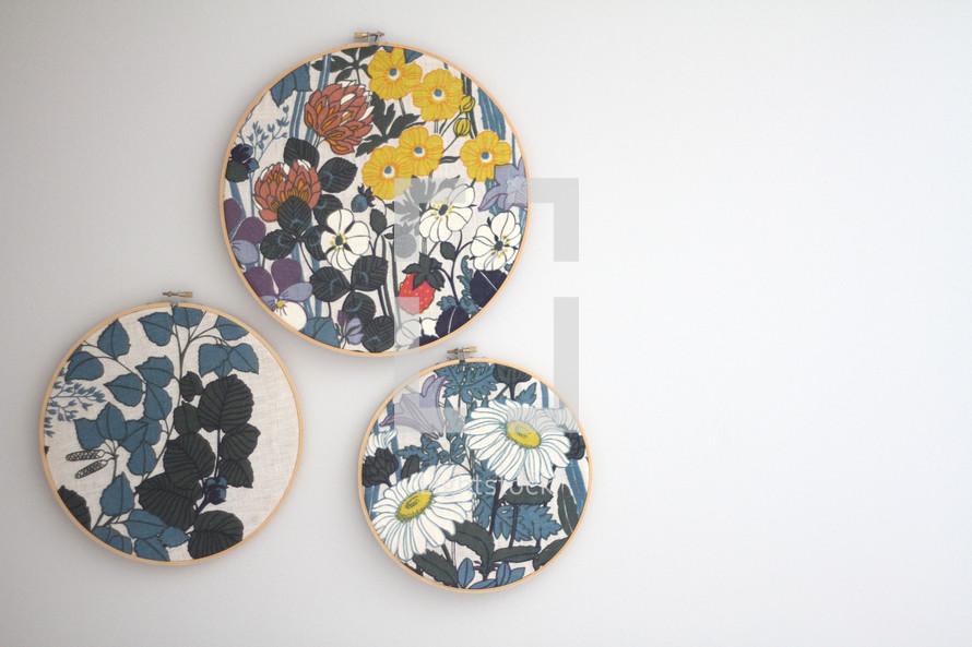 floral pattern in frames