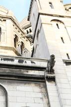gargoyles on a building in Paris