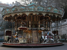 A carousel in Paris