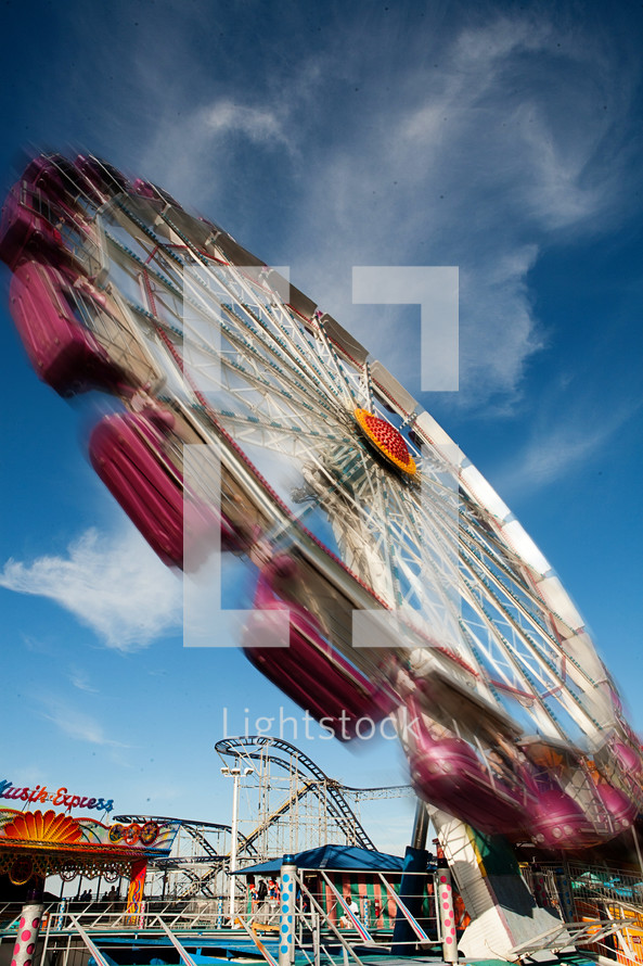 Spinning ride at carnival