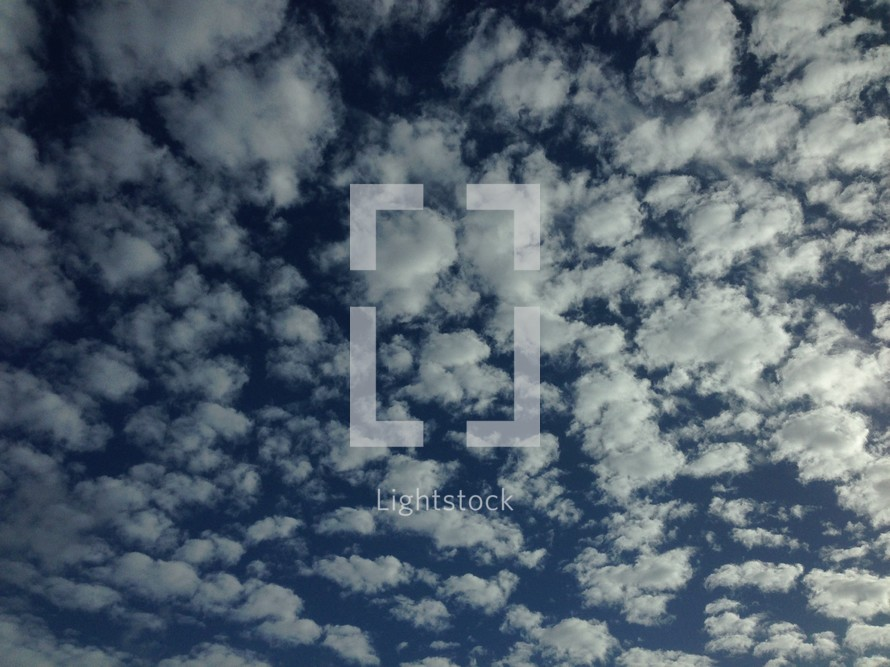 choppy clouds in the sky