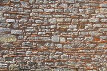 ancient stone brick wall