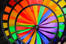 Rainbow color wind spinner child's garden ornament