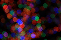 Multi-colored Christmas Lights - bokah effect