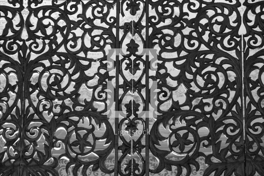 decorative iron screen