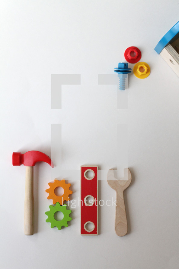 wooden toy tools