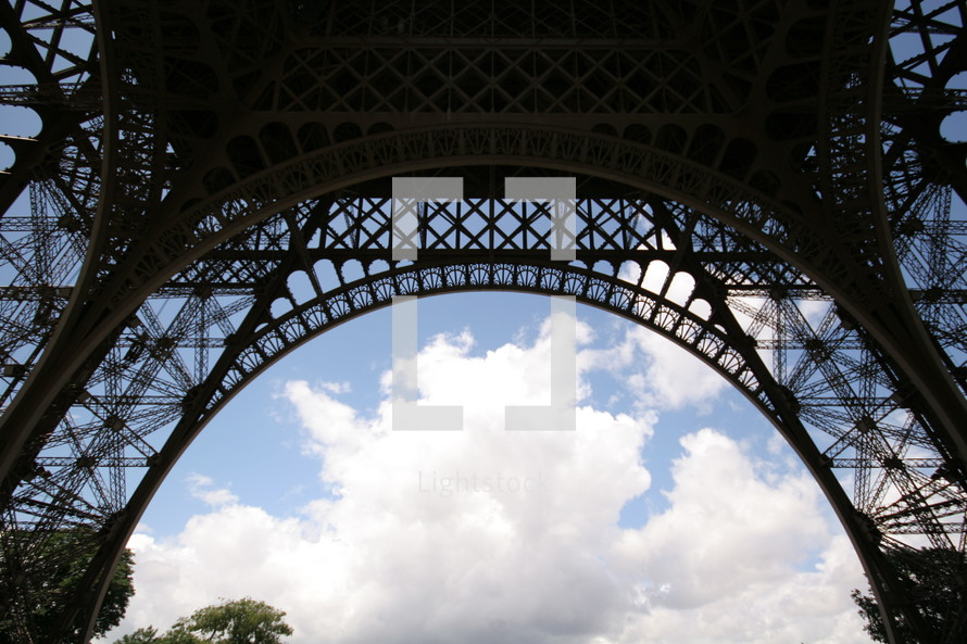 legs of the Eiffel tower