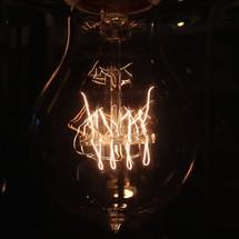coils in a light bulb