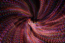 colorful swirling Christmas lights