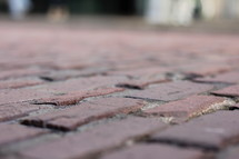 bricks on a sidewalk