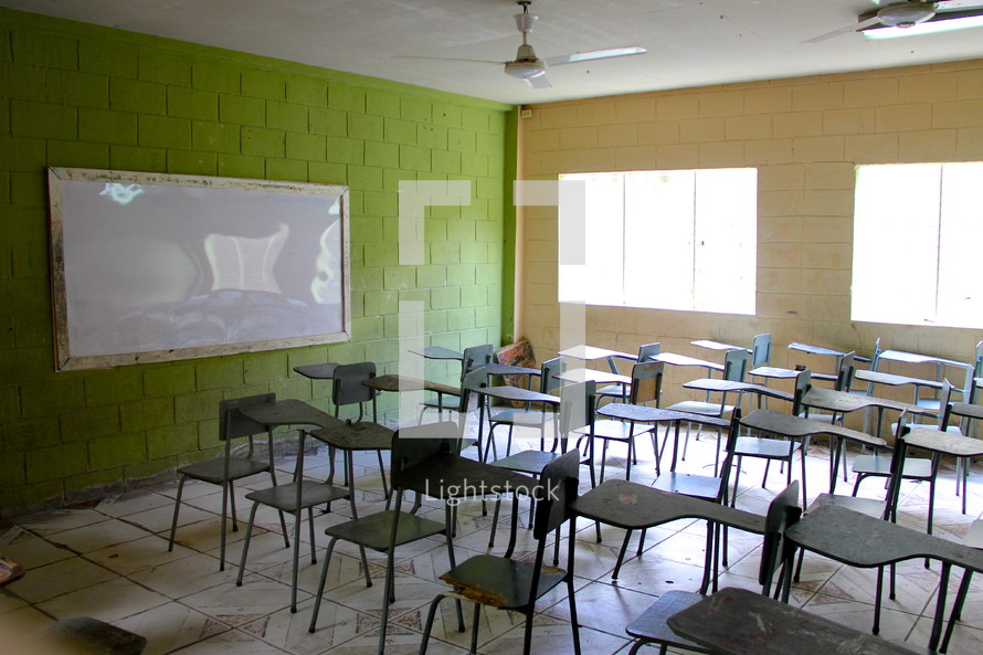Empty classroom In Honduras