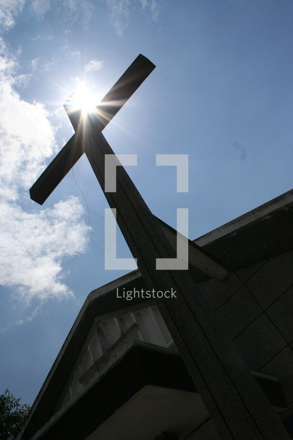 Large cross with sun