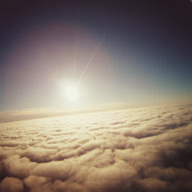sunburst above the clouds