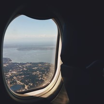 view out of a plane window