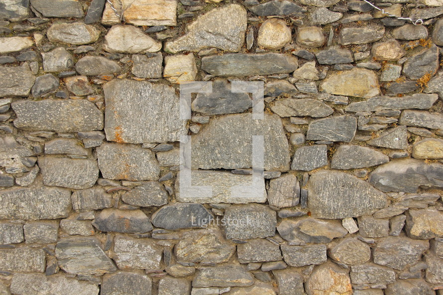 ancient stacked stone wall