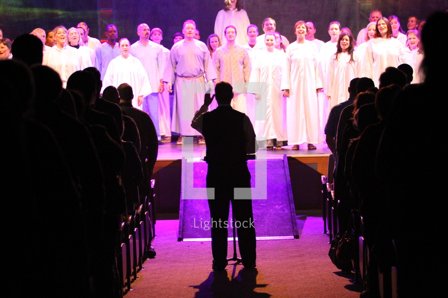 choir and conductor